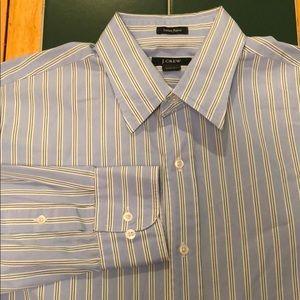 J. Crew Men's Long Sleeve Dress Shirt Striped